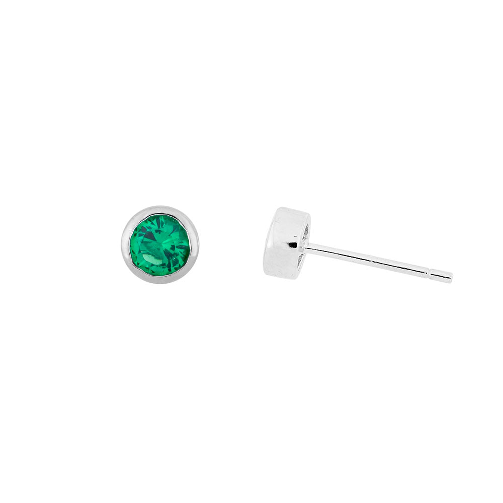 May Birthstone Earrings - Siberian Emerald