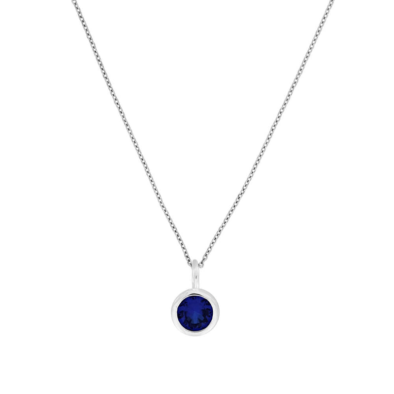 September Birthstone Pendant - Blue Spinel