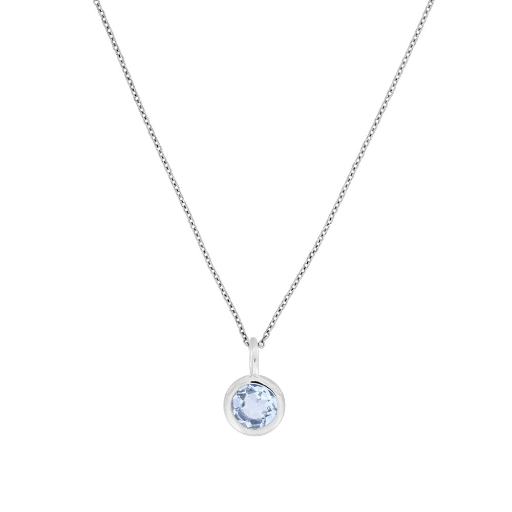 November Birthstone Pendant - Blue Topaz