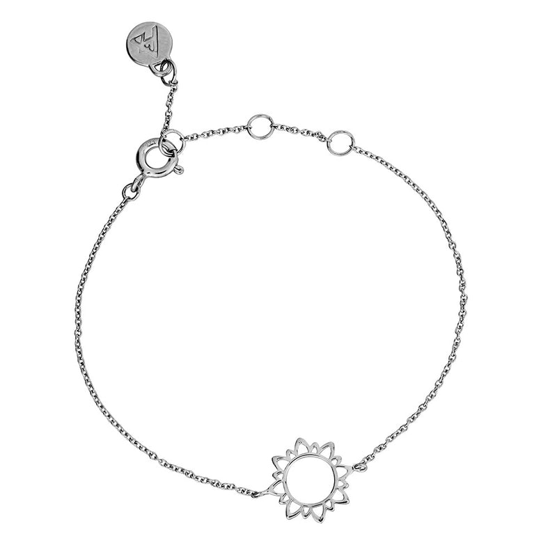 Silver Mini Sun Outline Bracelet