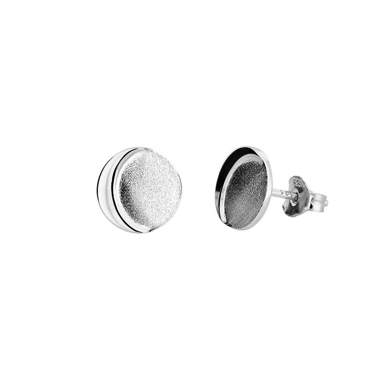 Sterling Silver Eclipse Stud Earrings