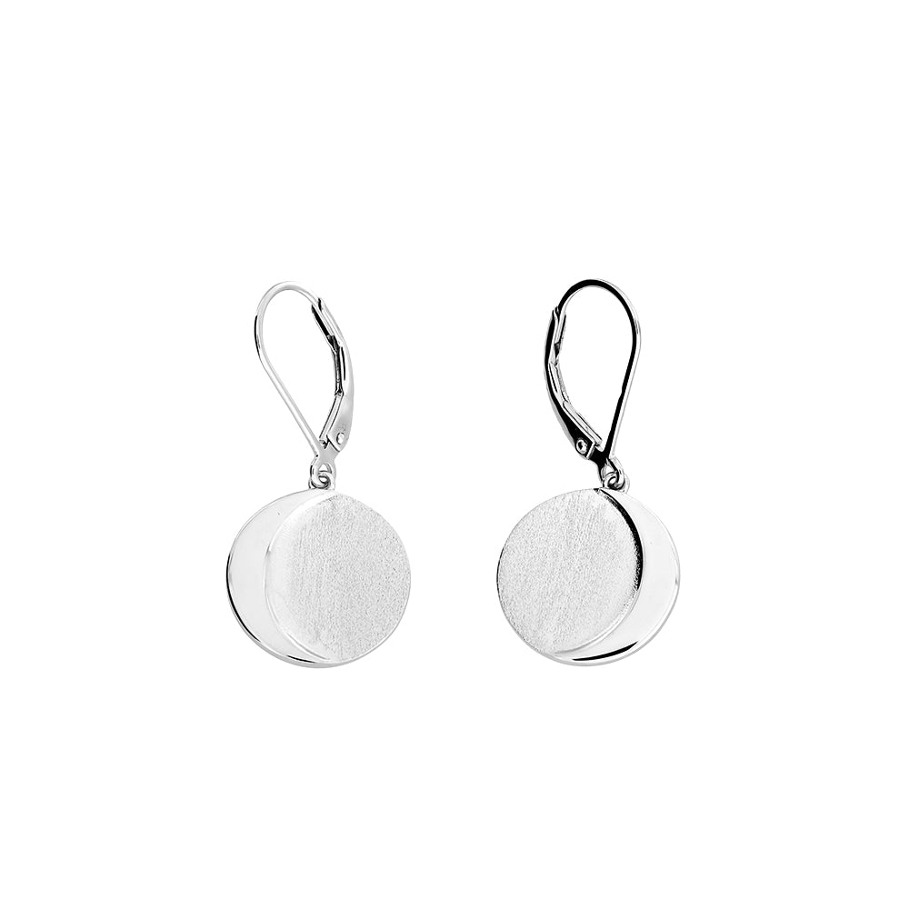 Sterling Silver Eclipse Drop Earrings