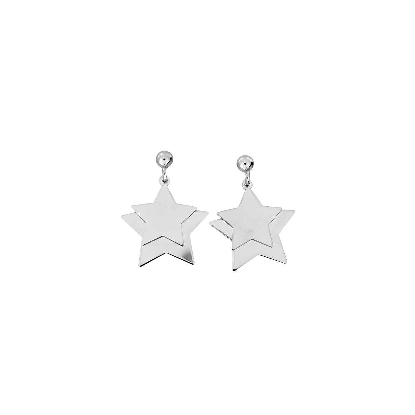 Twin Star Drop Earrings