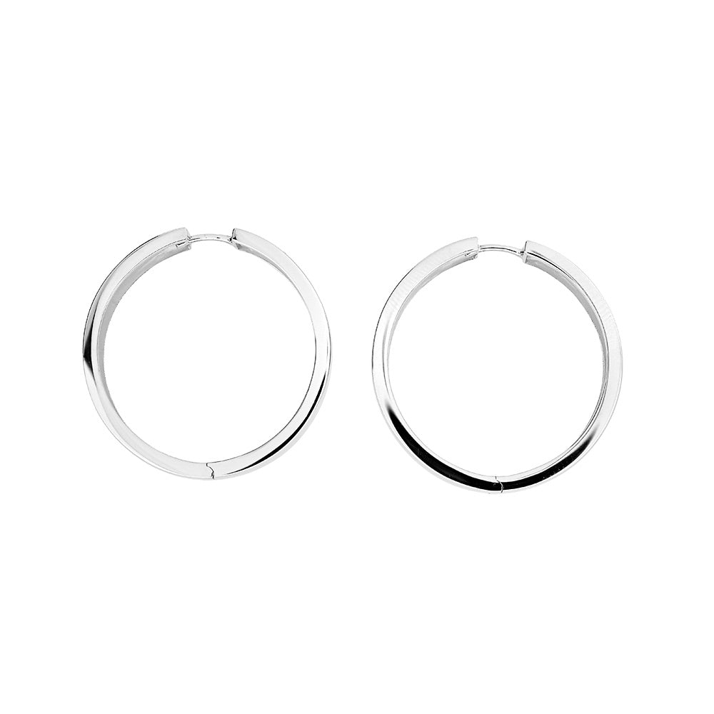Hinge Hoop Earrings - Large Wide