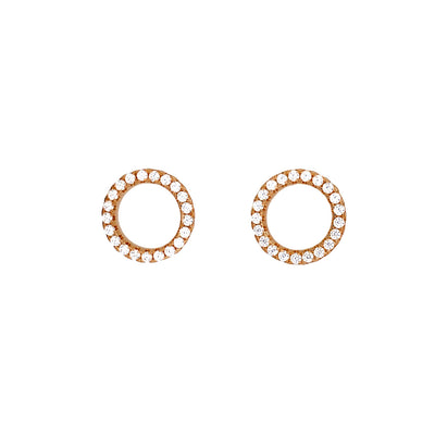Pavé Open Circle Stud Earring