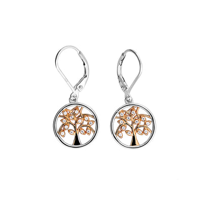 Arbor Vitae Stone Set Drop Earrings