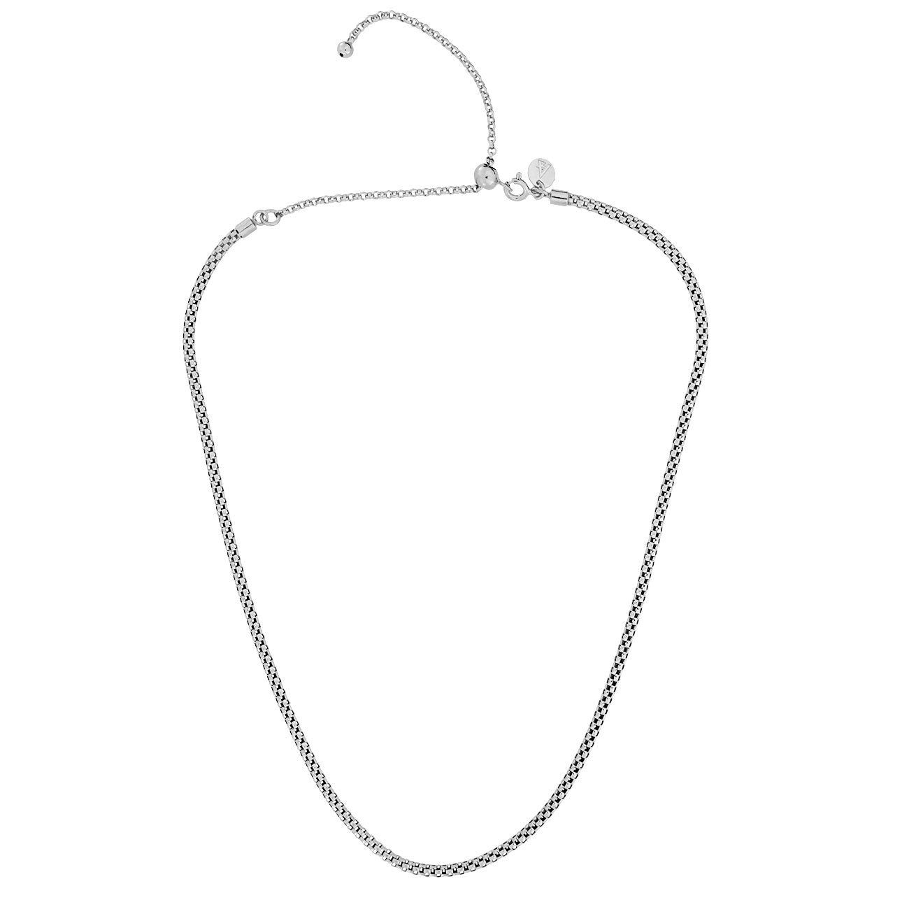 Adjustable Rounded Box Chain Necklace