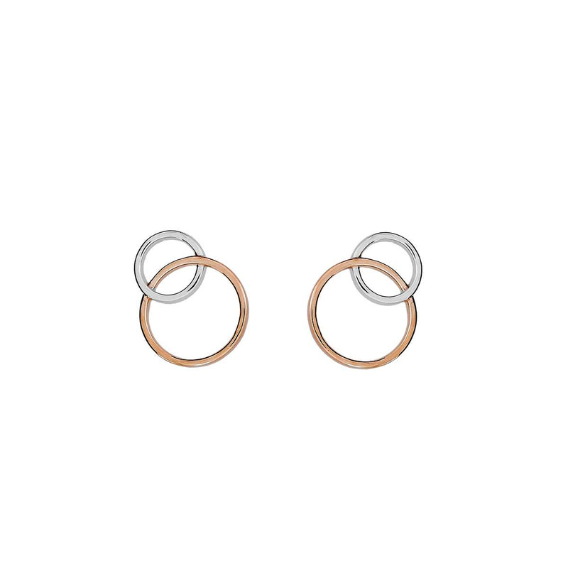 Metropolitan Two Circle Stud Earring