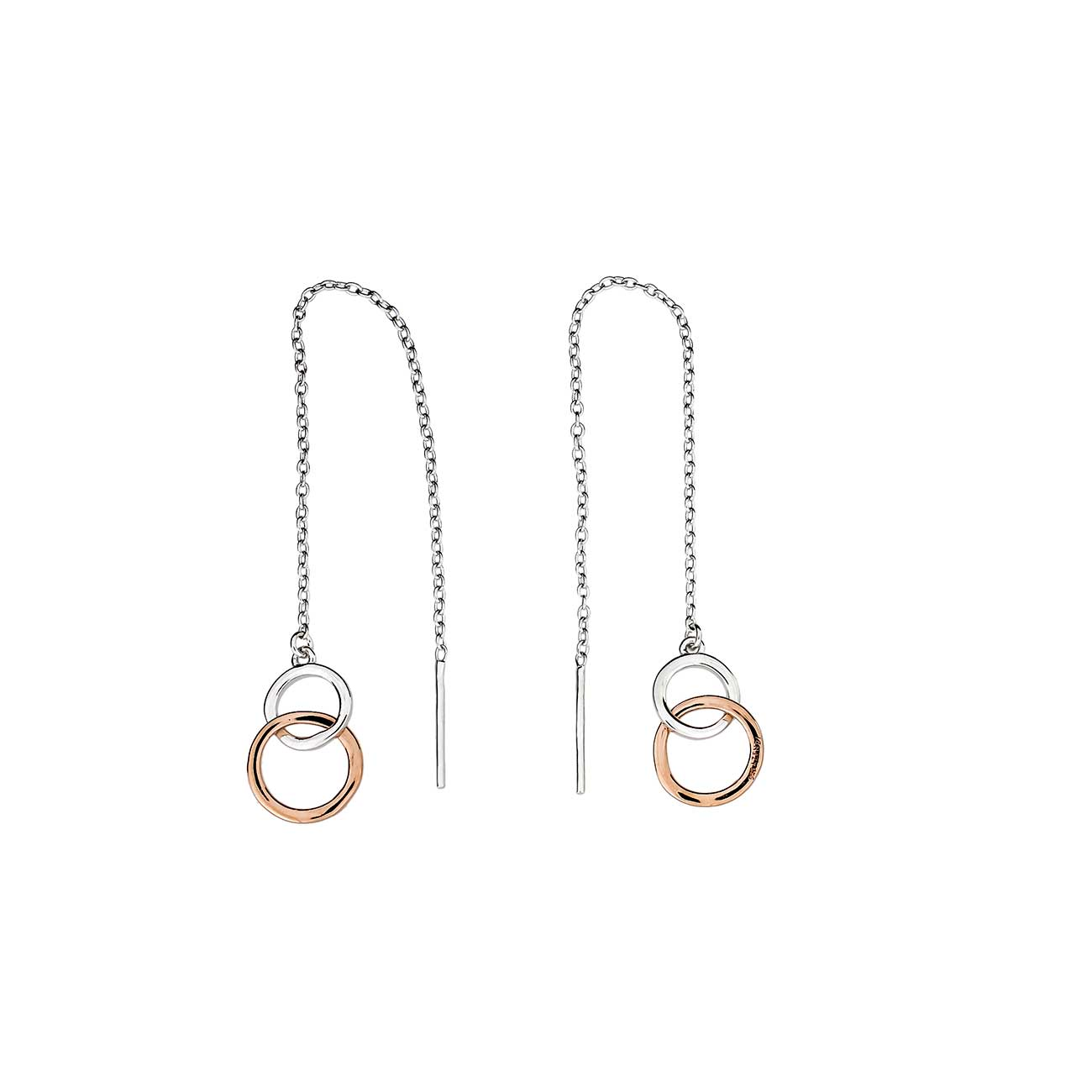 Metropolitan Two Circle Pull Through Earrings