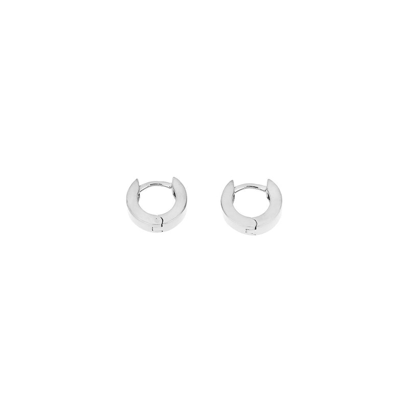 Gold Hinged Hoops - Square Section - 9ct -10mm