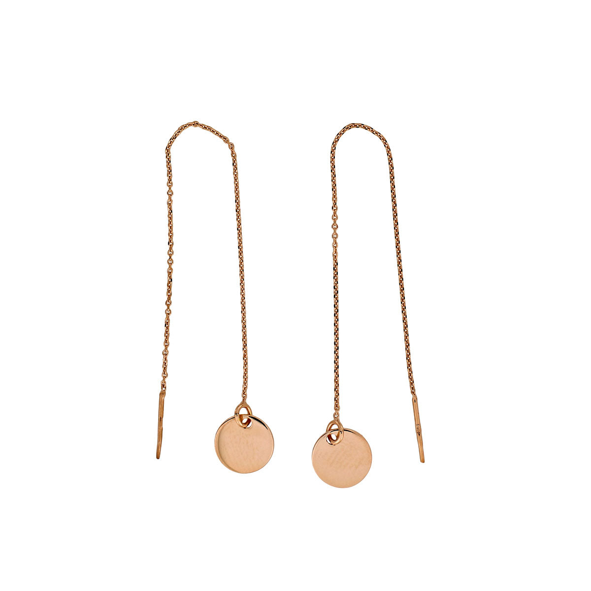 Coniston Rose Gold Vermeil Pull Through Earrings