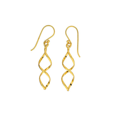 Longer Open Twist Earrings