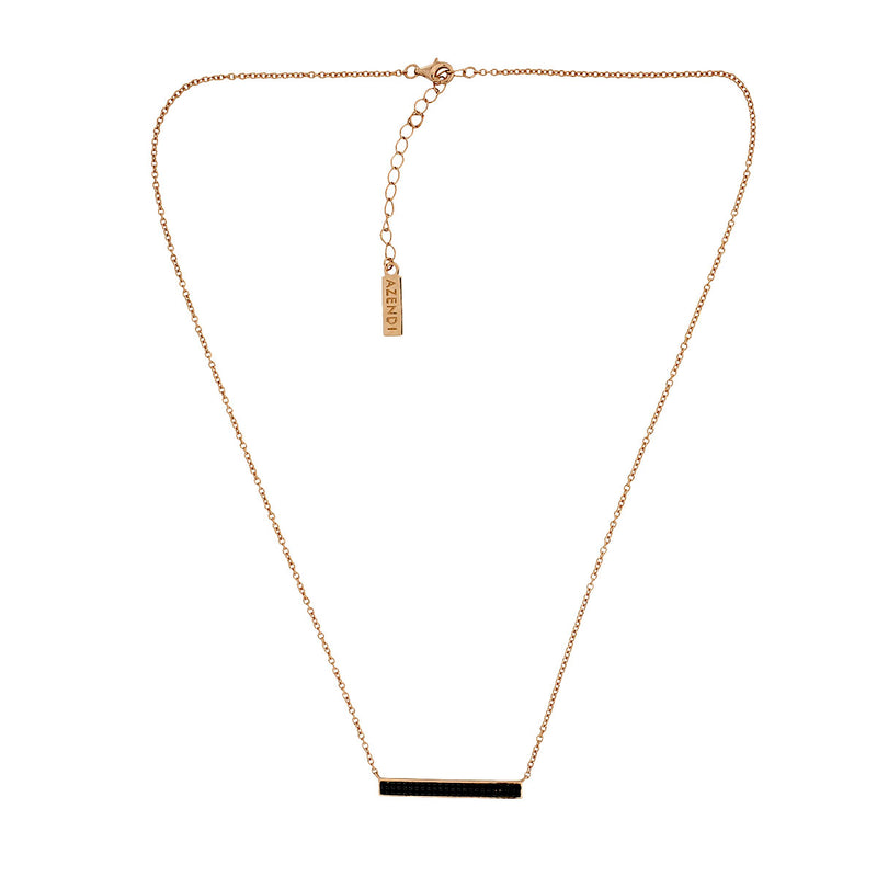 Midnight Rose Horizontal Bar Necklace