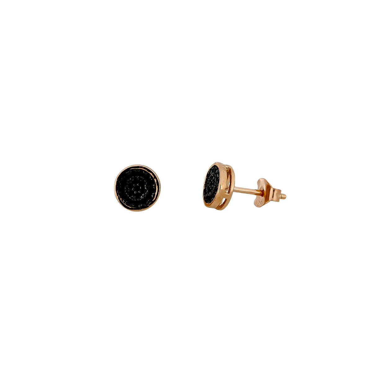 Midnight Rose Vermeil Stud Earrings