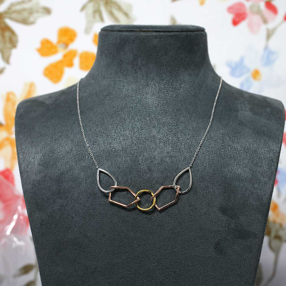 Pinnacle Linked Shapes Necklace - Vermeil