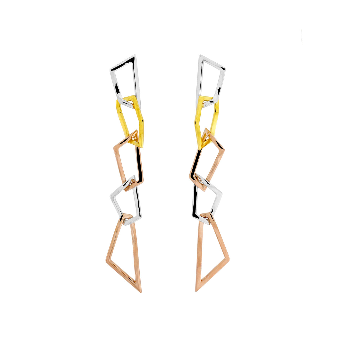 Pinnacle Five Polygon Drop Earrings