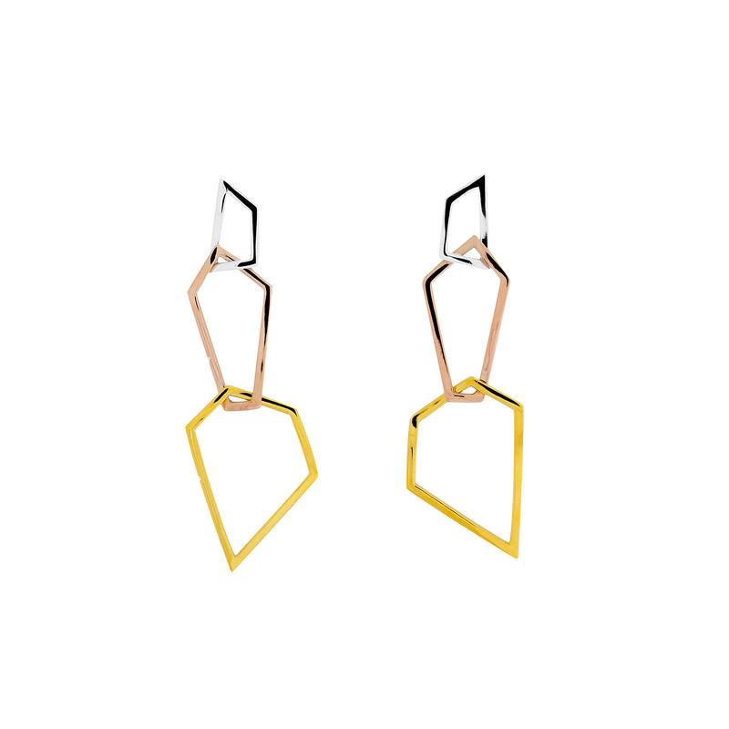 Pinnacle Three Polygon Drop Earrings