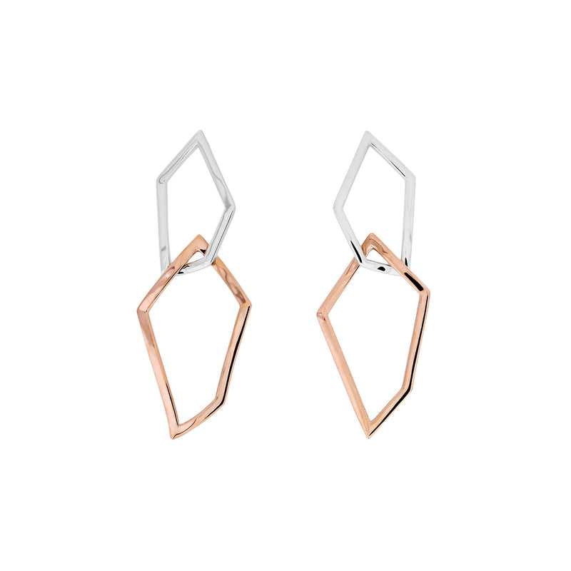 Pinnacle Interlocking Polygon Earrings