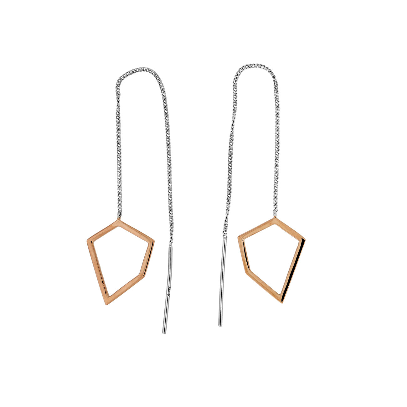 Pinnacle Polygon Pull-Through Earrings