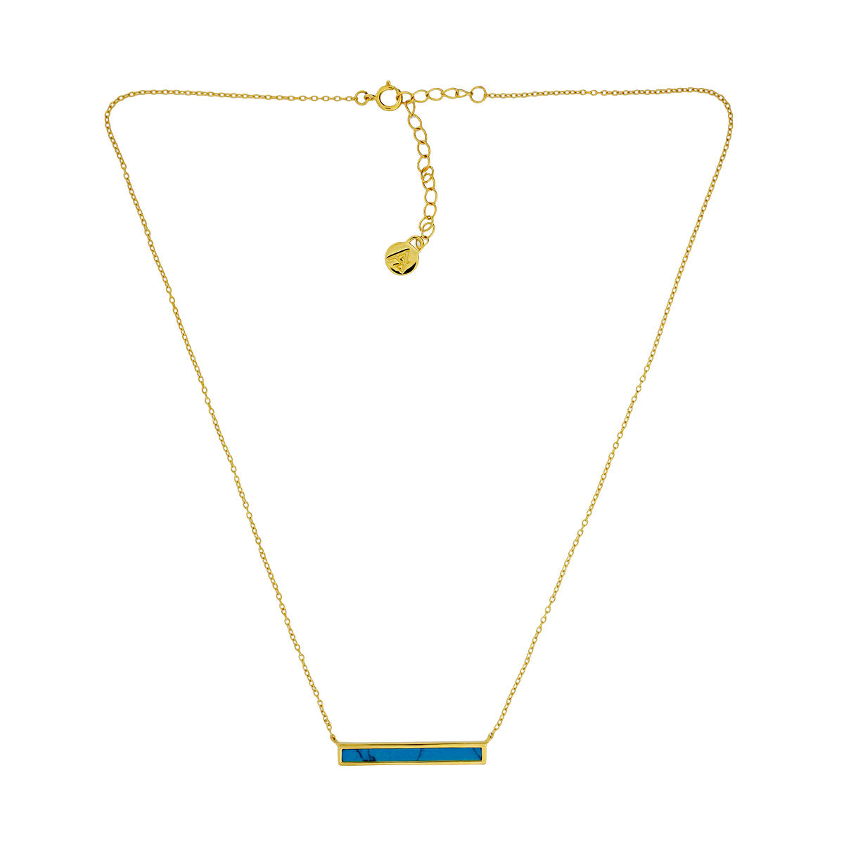 Horizon Bar Necklace in Sky Blue Howlite