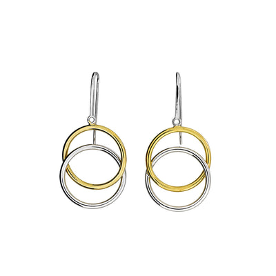 Twin Circles Drop Earrings