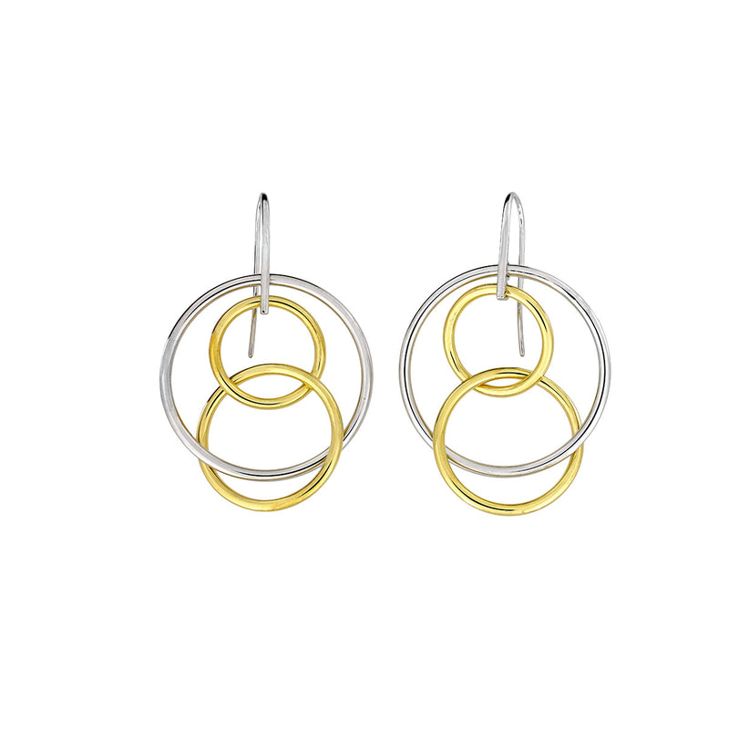 Balance Three Circles Earrings