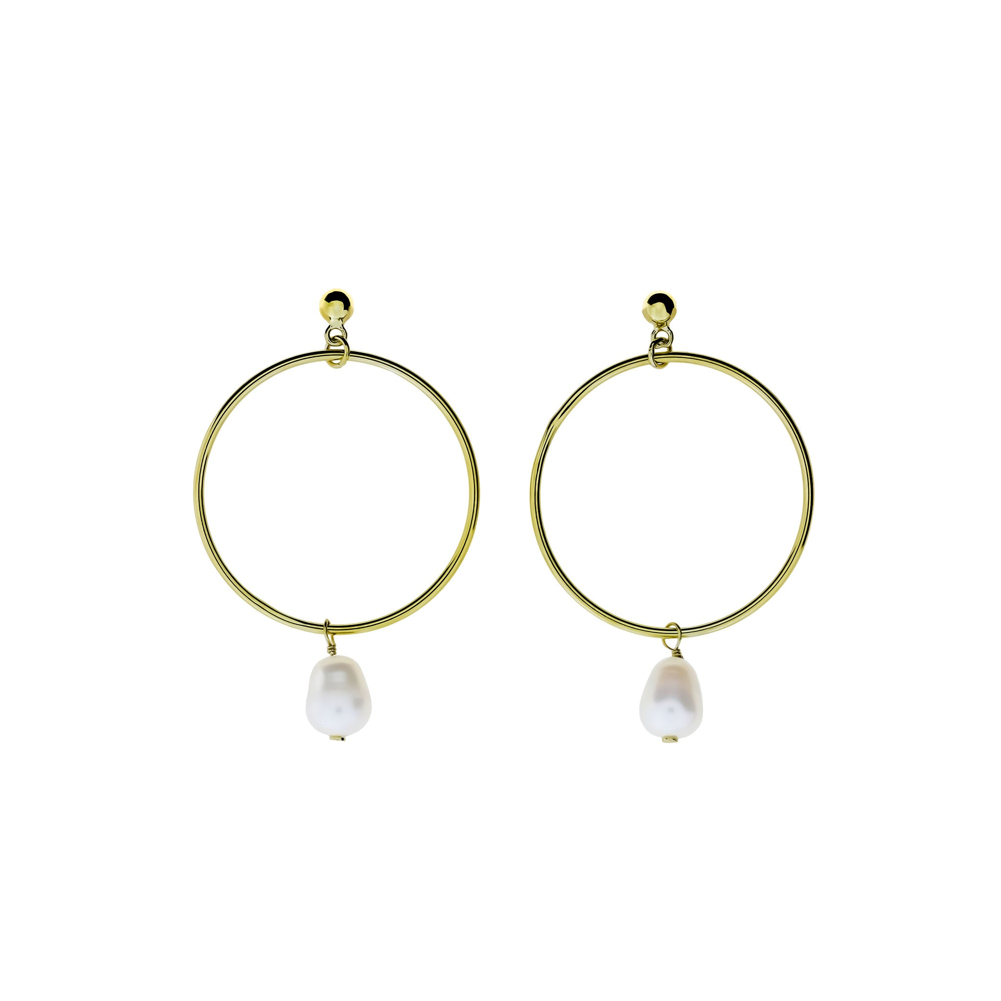 d3aba92eb6a1d Tribeca Open Circle & Pearl Drop Earrings