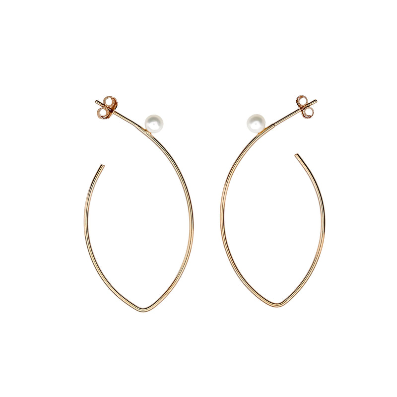 Tribeca Pearl Marquise Hook Earrings