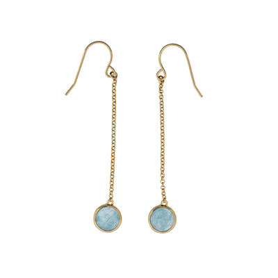 Ithica Drop Earrings with Aqua Chalcedony