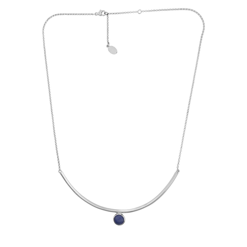 Ithica Curve Necklace with Blue Calcite