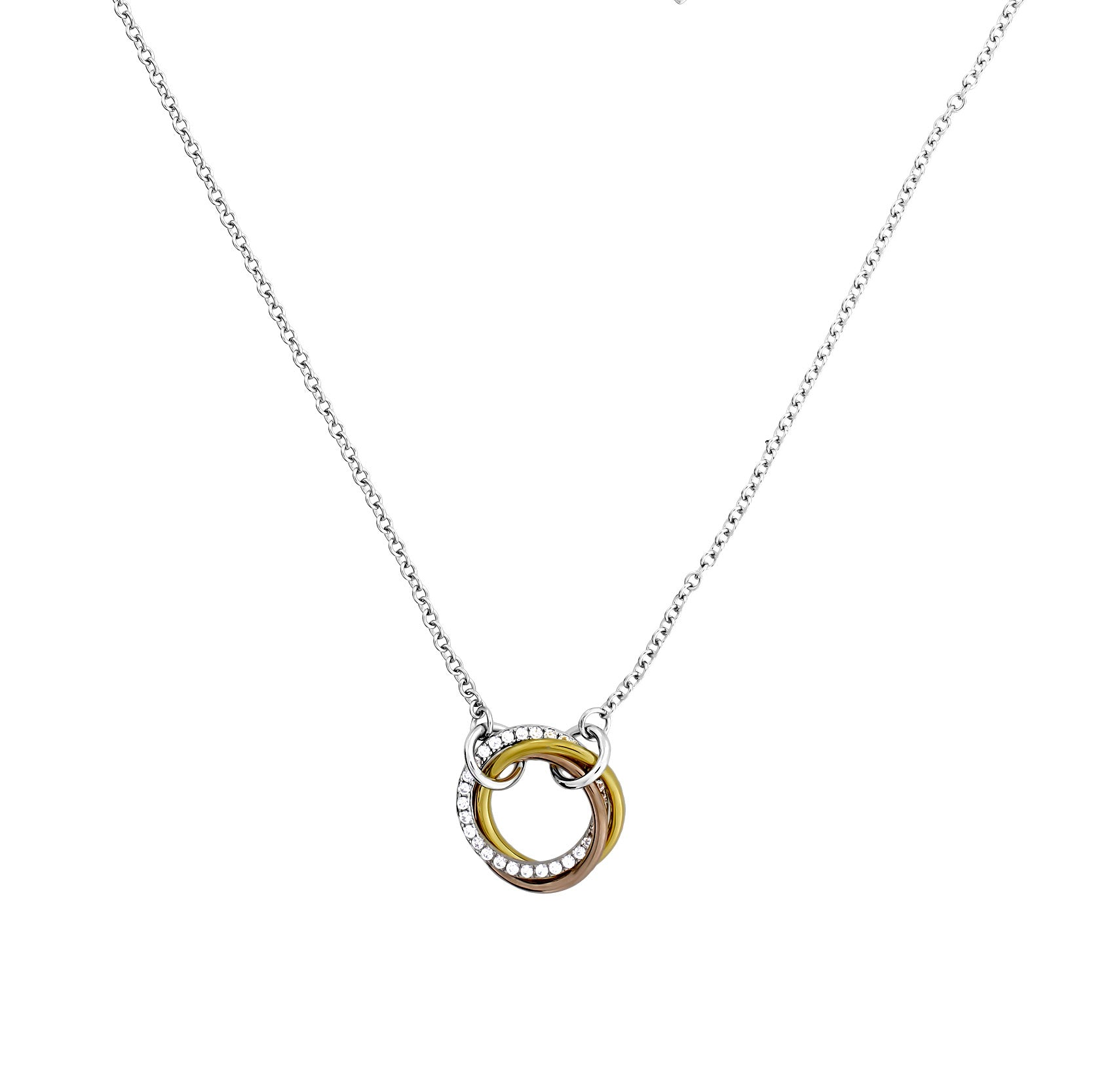Entangled Love Knot Necklace - With Pavé