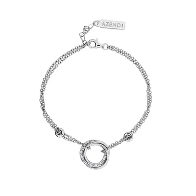 Entangled Love Knot Bracelet - With Pavé