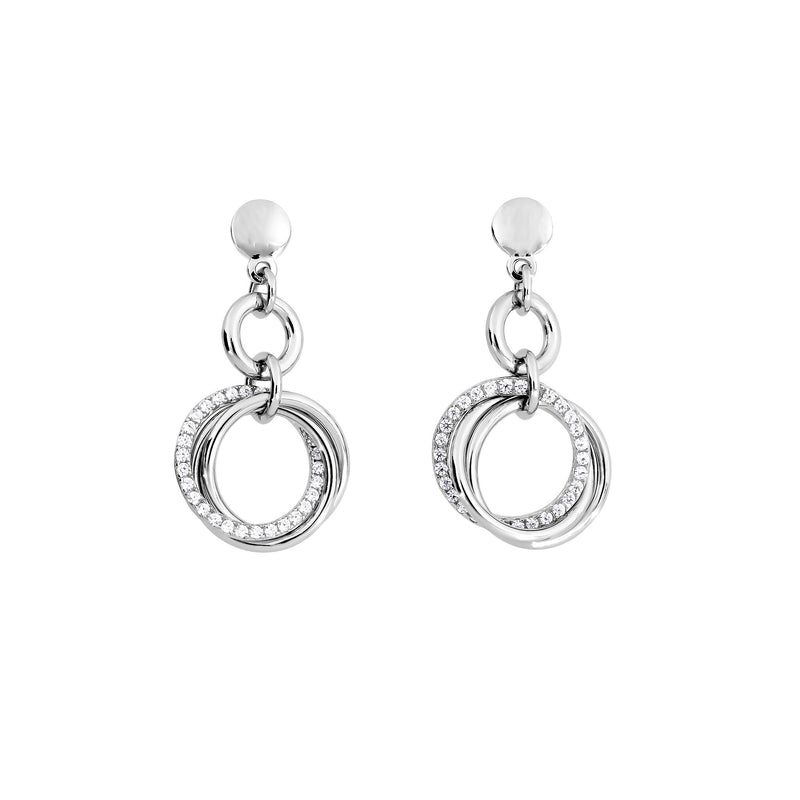 Entangled Love Knot Drop Earring - With Pavé