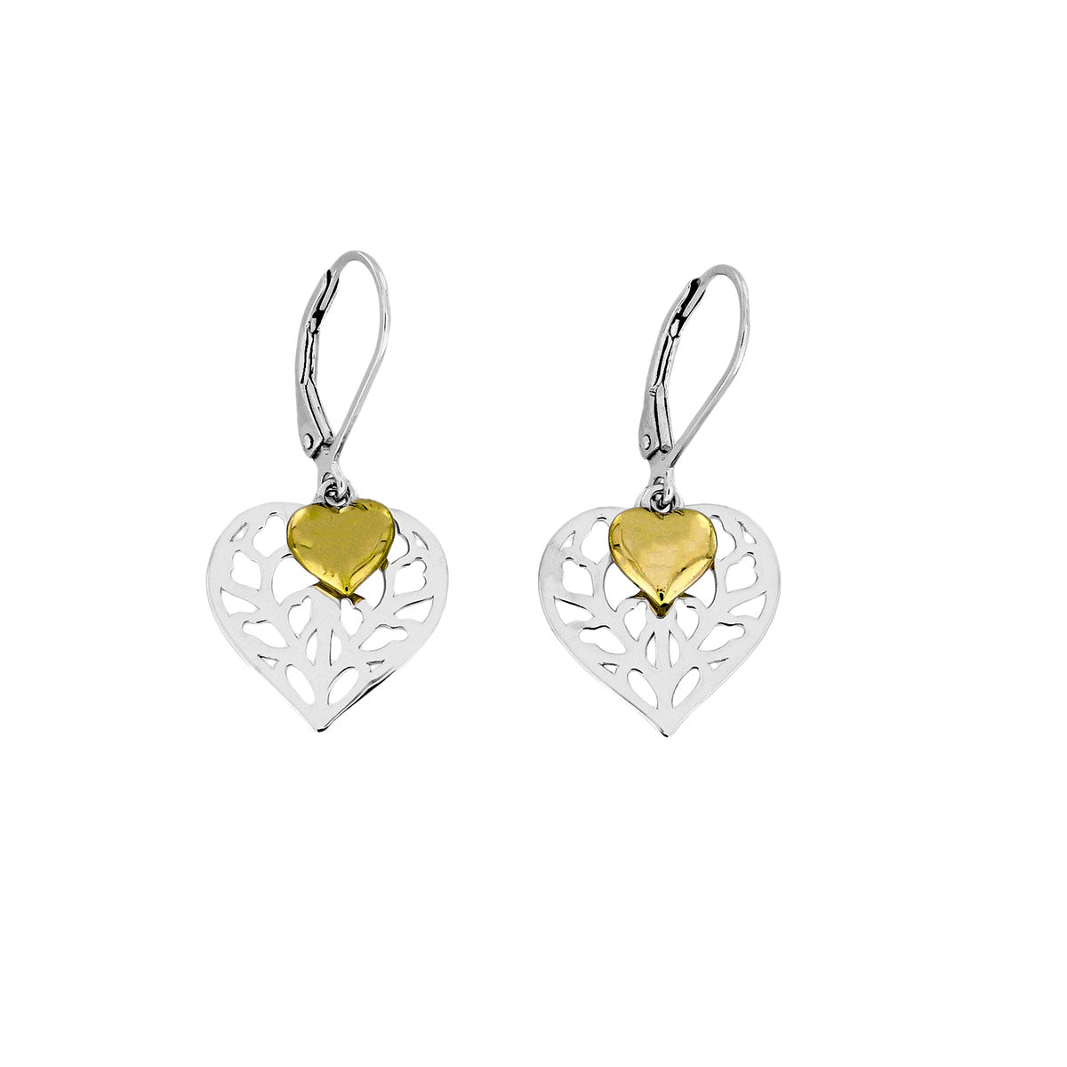 Heart of Yorkshire Double Drop Earring with Gold Vermeil