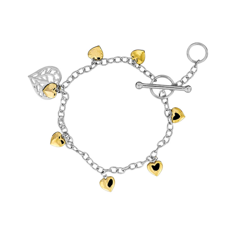 Heart of Yorkshire T-Bar Bracelet with Gold Vermeil