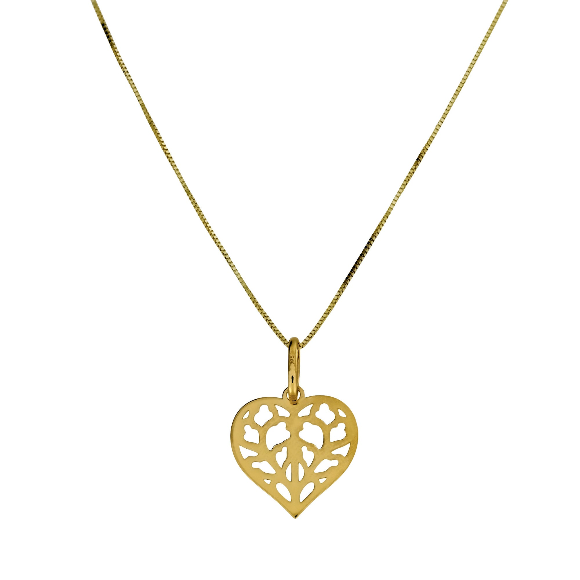 9ct Yellow Gold Heart of Yorkshire Pendant