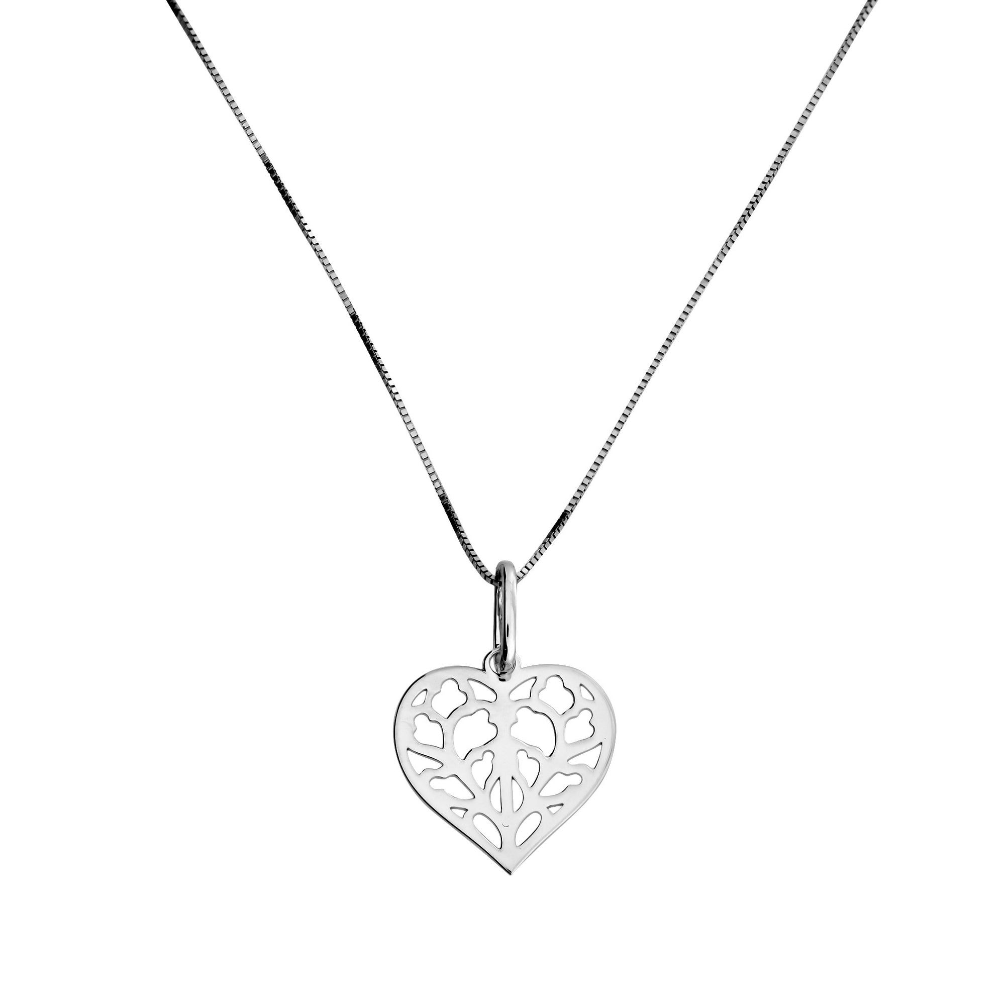9ct White Gold Heart of Yorkshire Pendant