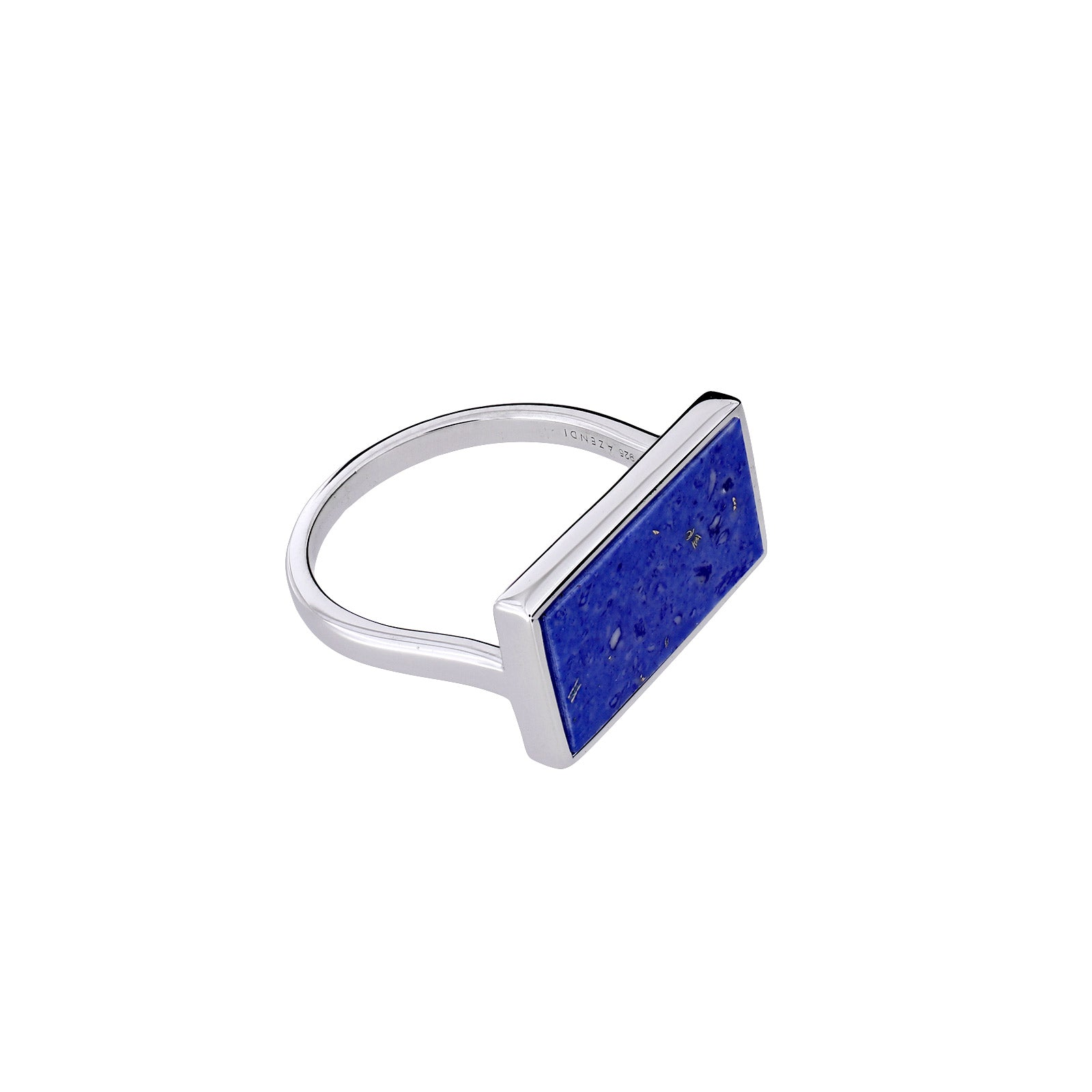 Horizon Landscape Rectangle Ring in  Blue Howlite