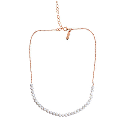 Simple Pearl Strand Necklace - Thirty Pearls