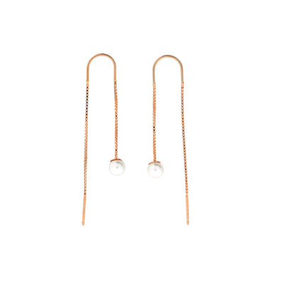 Single Pearl Threader Earring