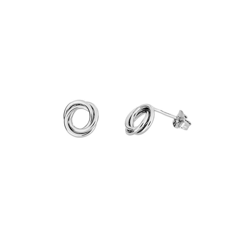 ENTANGLED LOVE KNOT STUD EARRING