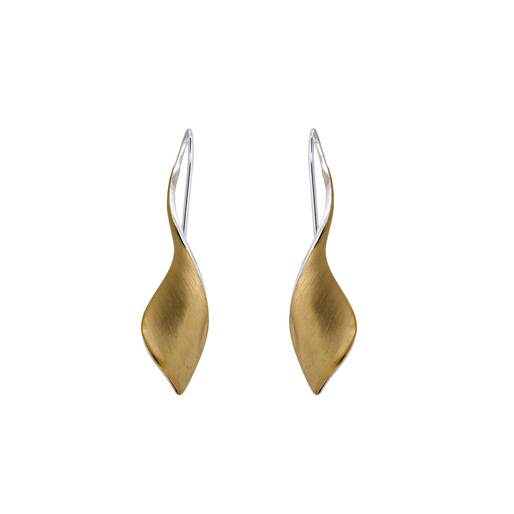18ct Gold Vermeil Twist Drop Earrings