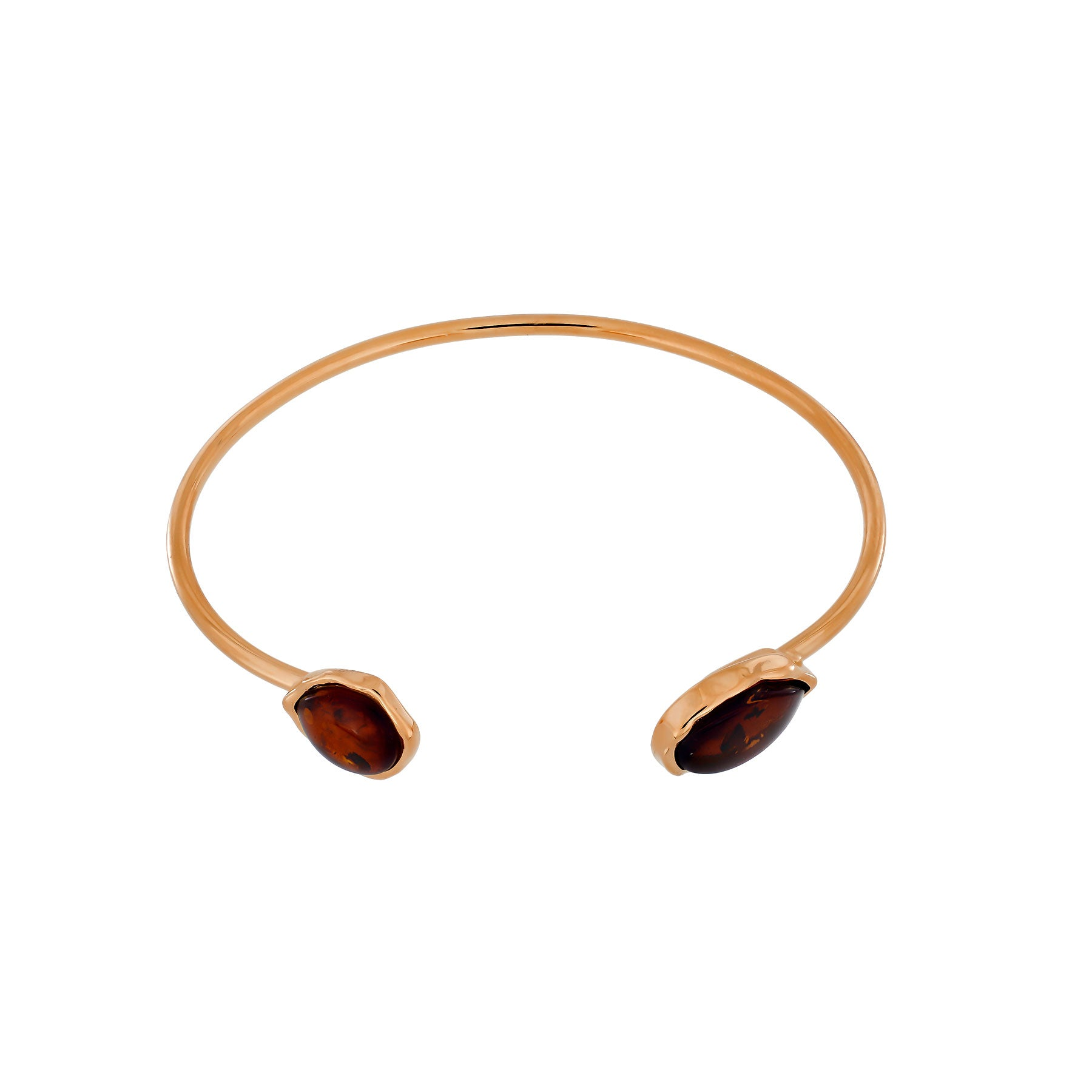 Northern Lights Baltic Amber Cuff in Rose Gold Vermeil