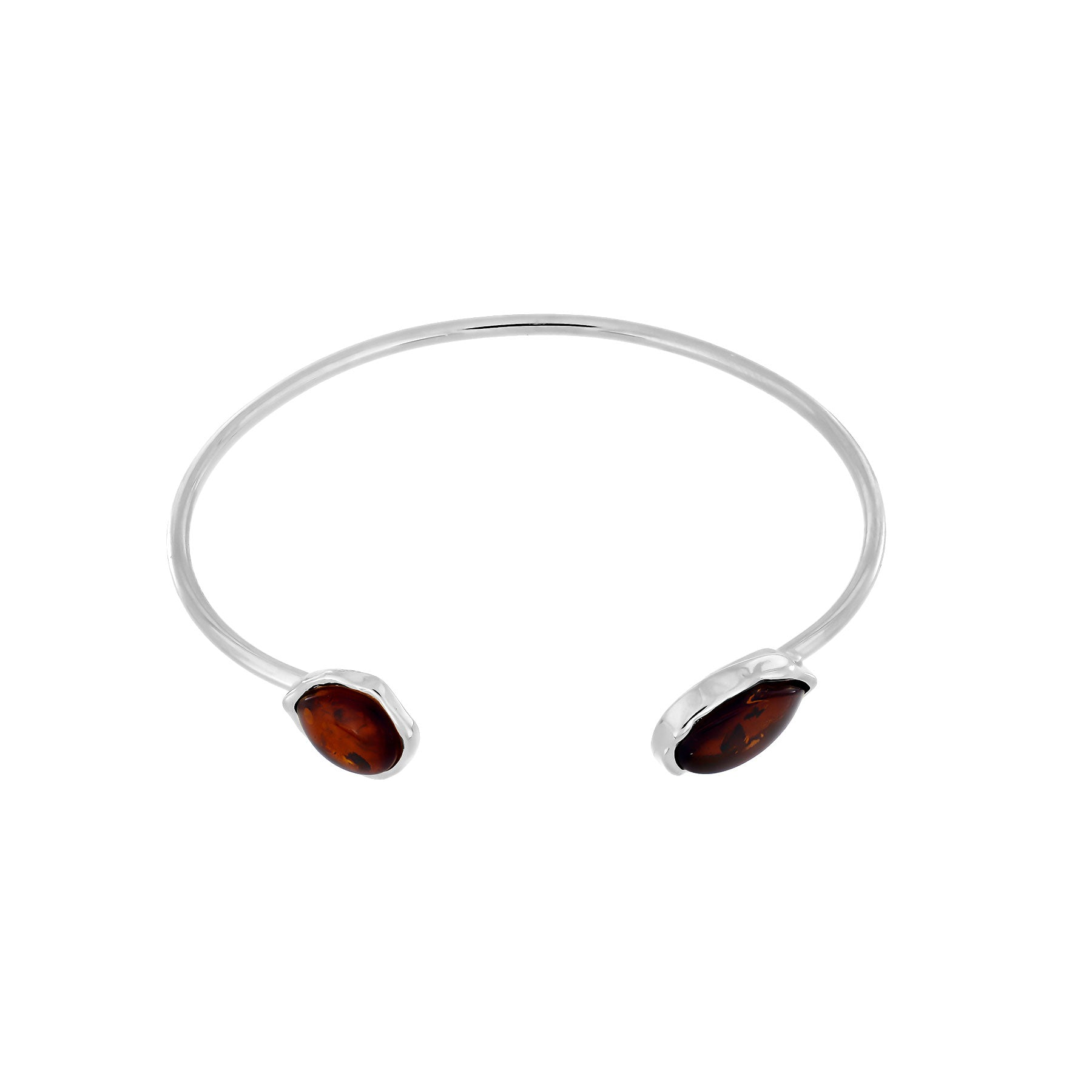 Northern Lights Baltic Amber Cuff in Silver