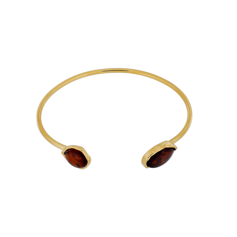 Northern Lights Baltic Amber Cuff in Gold Vermeil