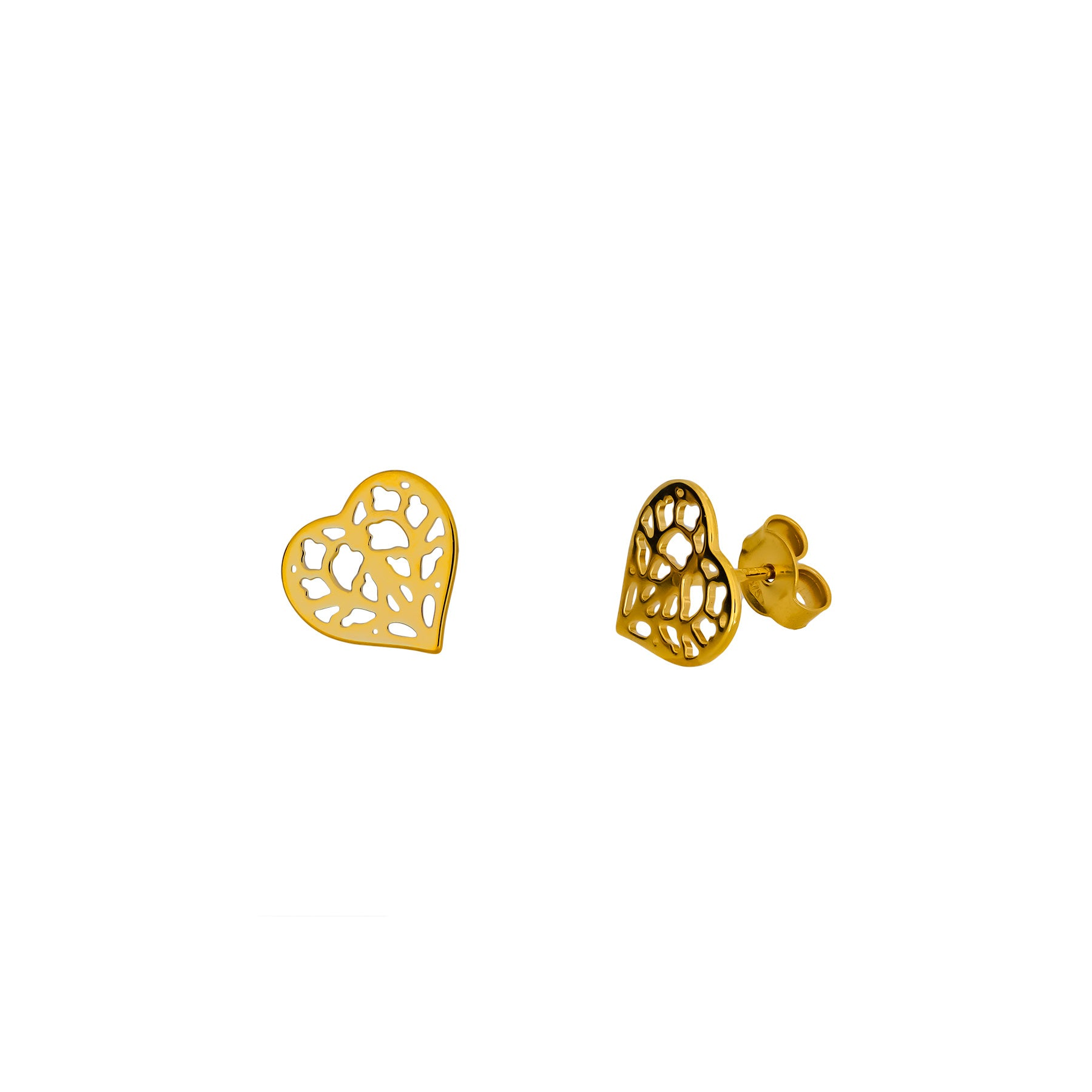 9ct Yellow Gold Heart of Yorkshire Stud Earrings