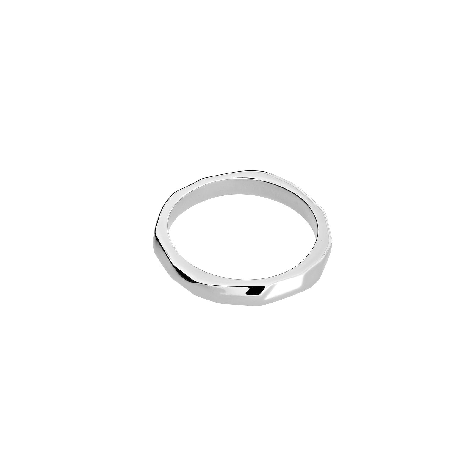 Silver Textured Ring - 3mm Width