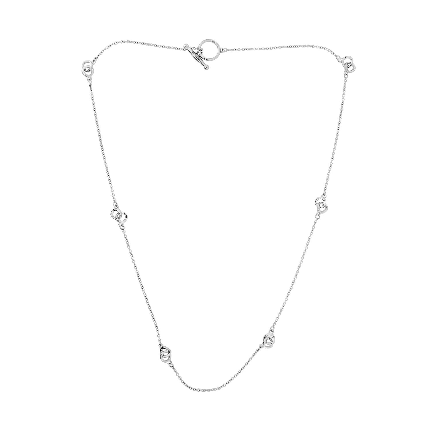 Gossamer Fine Interlocking Circles Necklace
