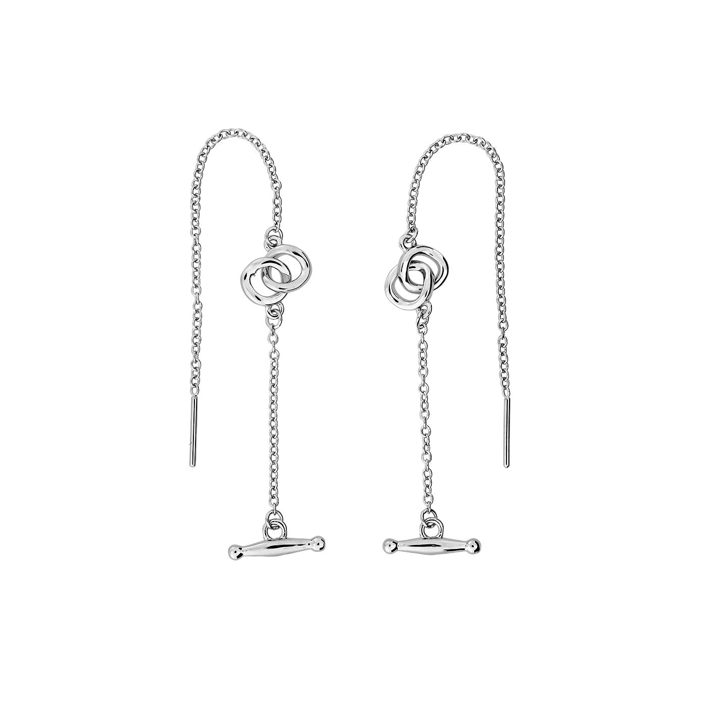 Gossamer Fine Interlocking Circles Threader Earrings