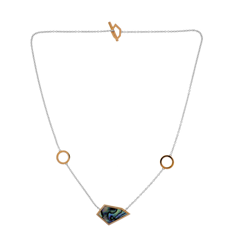 Abalone Pinnacle T-Bar Necklace